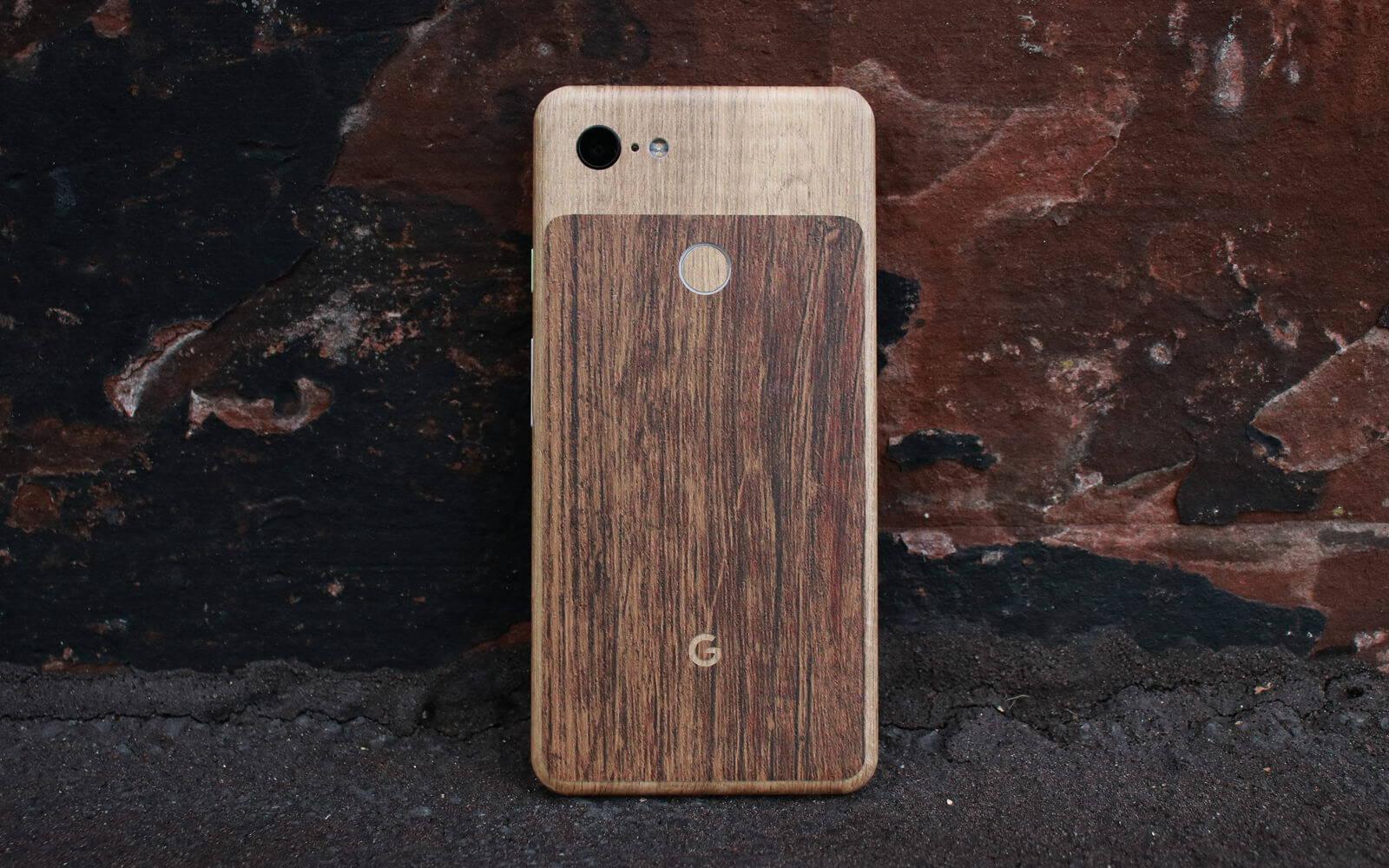 Google Pixel 3 Modern Oak and Aged Oak Skins
