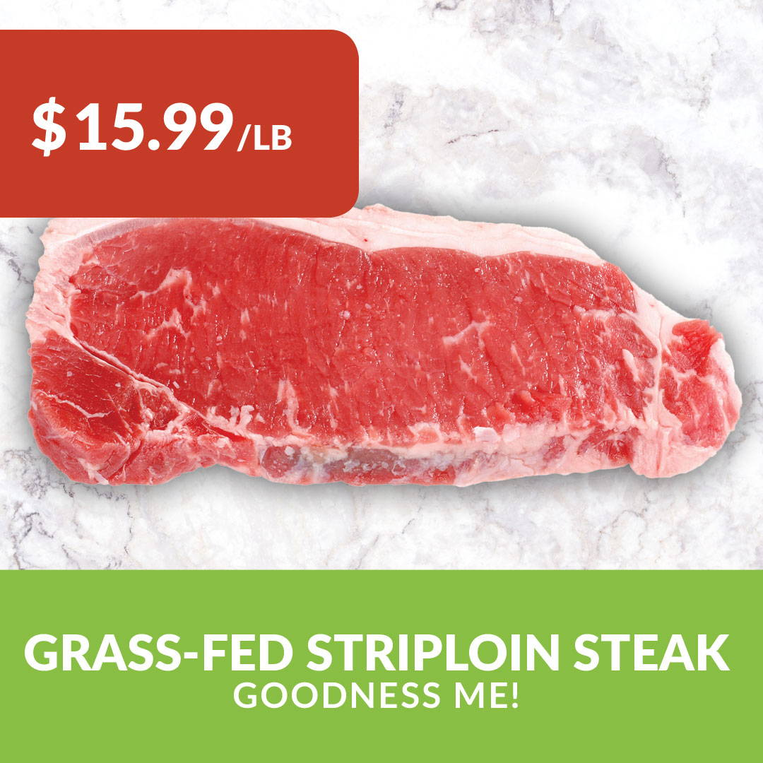 grass-fed striploin steak