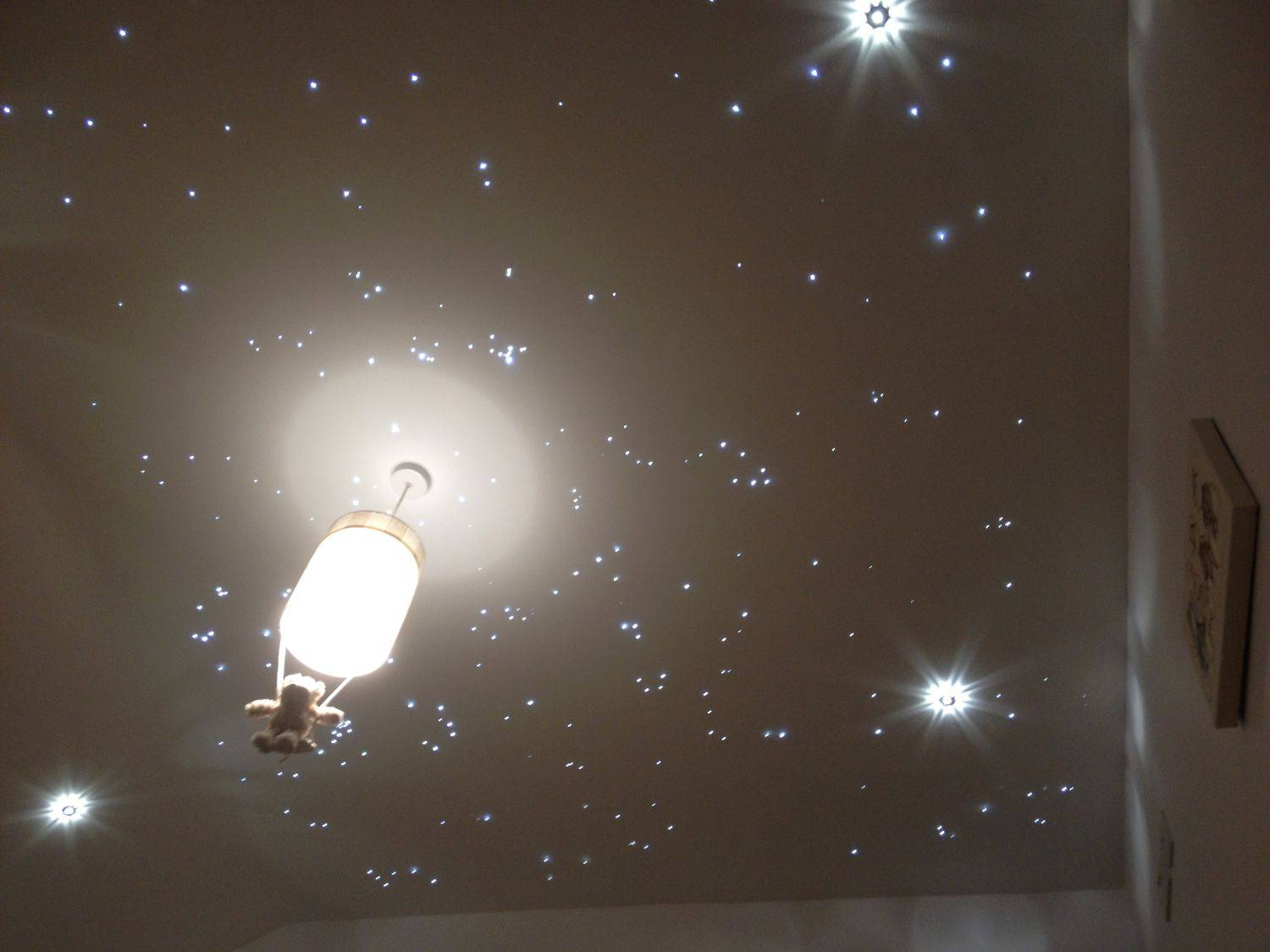Starscape galaxy fiber optic ceiling tile system for home theaters