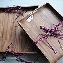 Classically beautiful walnut wooden serving trays like this make for a perfect gift for weddings, birthdays, the holidays, anniversaries and more