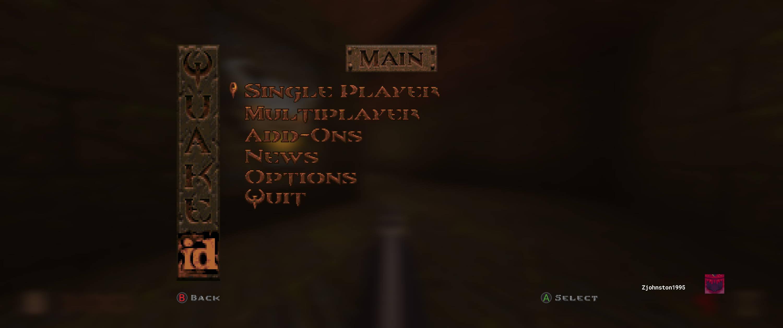 Quake Main Menu