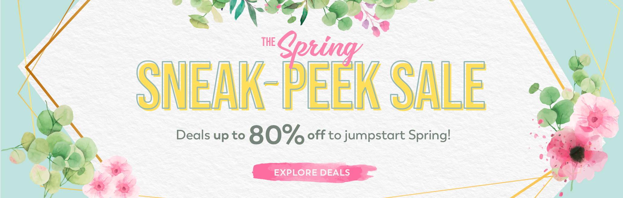 The Spring Sneak-Peek Sale