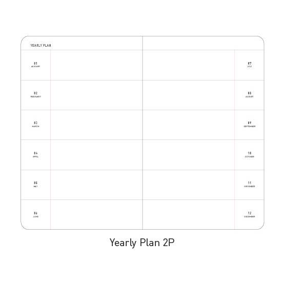 Yearly plan - Ardium 2020 Premium natural dated monthly diary planner