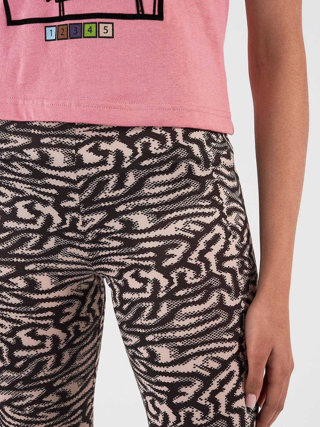 Shop the Maisie Wilen Mona Lisa T-Shirt and Brain Leggings