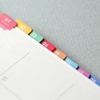Comes with index sticker - Jam Studio 2020 One fine day dated weekly planner scheduler