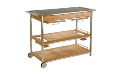 Barlow Tyrie Mercury Serving Table Cart