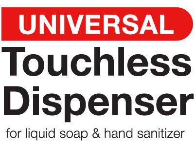 Universal Touchless Dispenser for Liquid Soap & Hand Sanitizer