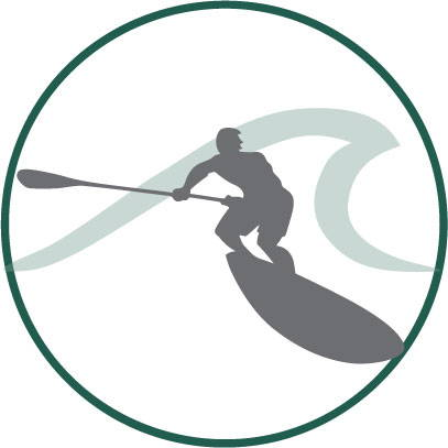 SUP surfing graphic
