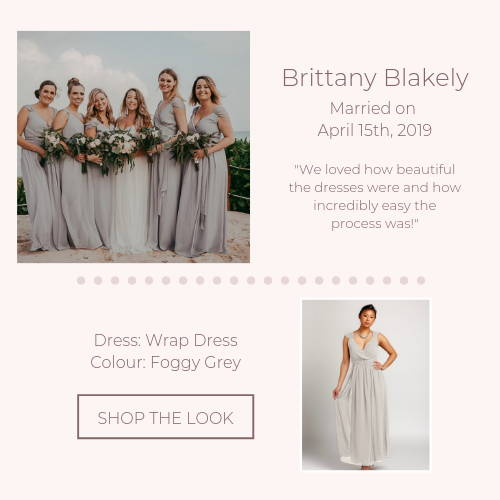 real wedding grey bridesmaid dresses online