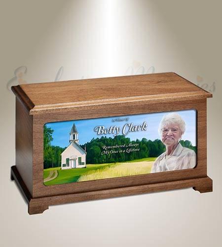 School House Photo Cremation Urn