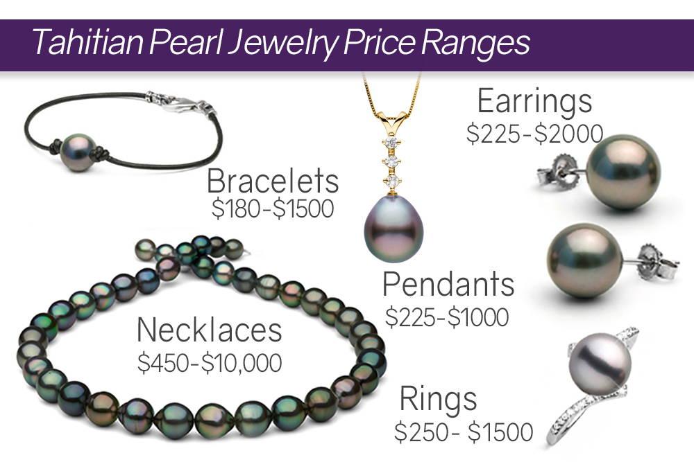 Average Tahitian Pearl Jewelry Price Ranges