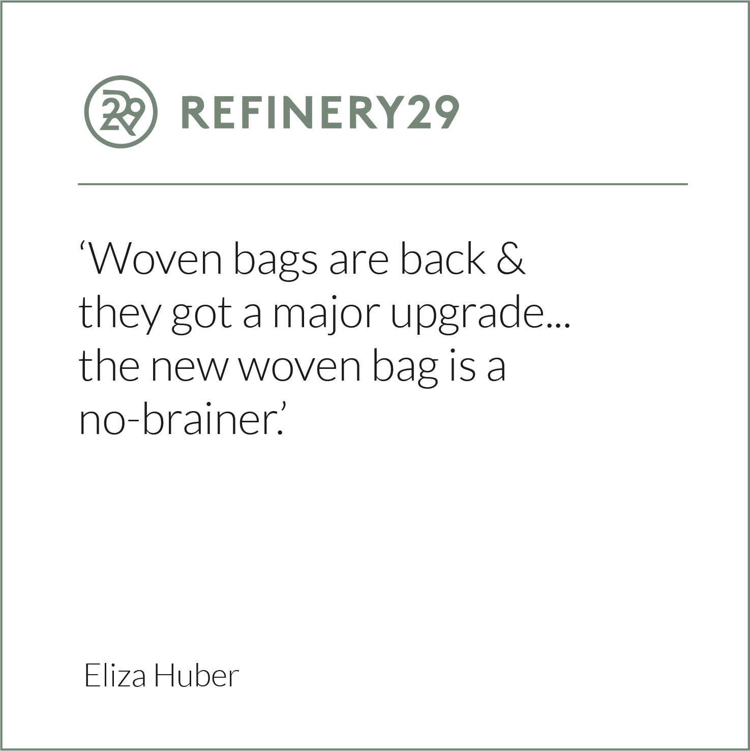 Refinery 29, Eliza Huber, Wicker Bag, Rattan Bag, Eco Friendly Bag, Wicker Wings, Wicker Wings Bag