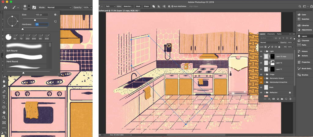 Add shine to your Photoshop illustration with Gaussian Blur