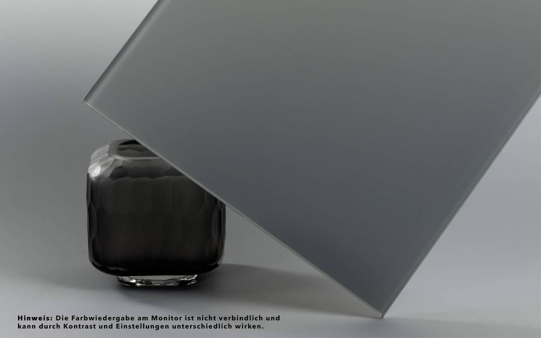 VSG aus ESG Glas grau mit matter Folie