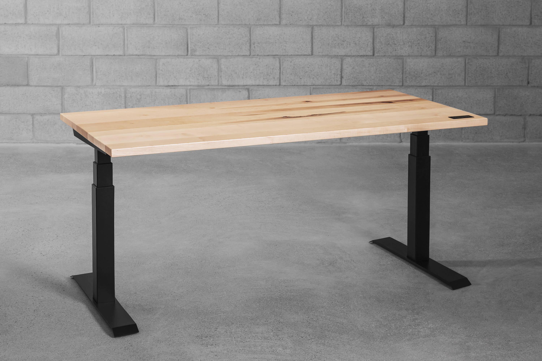 Sway sit-stand desk - maple - ergonofis