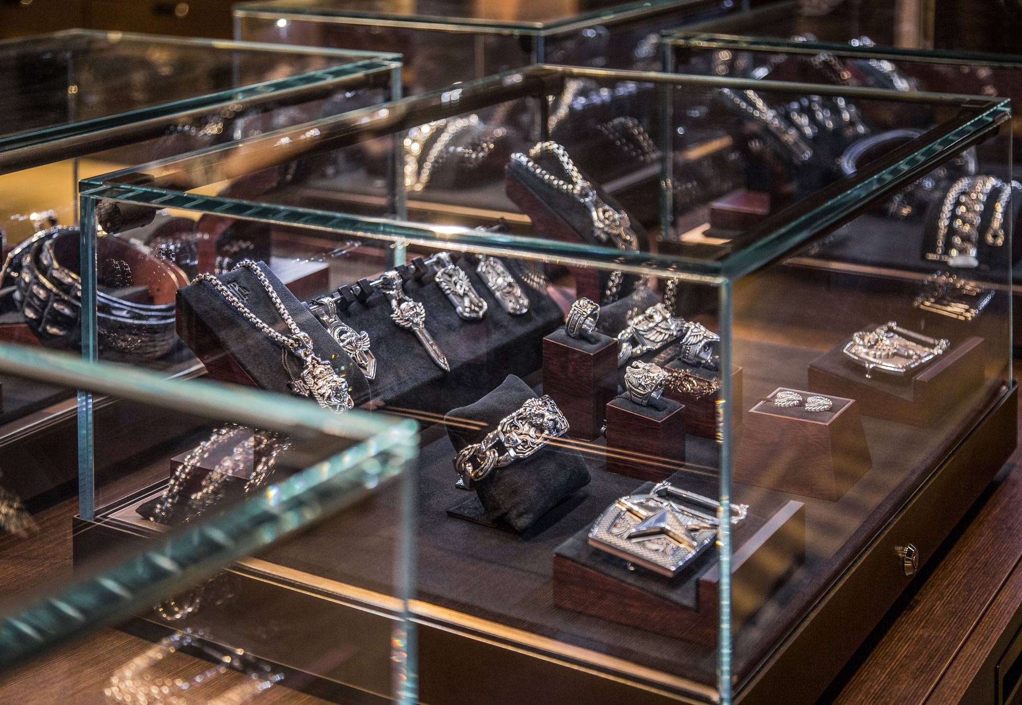 Jewelry Cases Inside NightRider Jewelry, Cherry Creek Shopping Center, Denver, Colorado - Interior