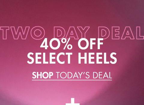 40% Off Heels