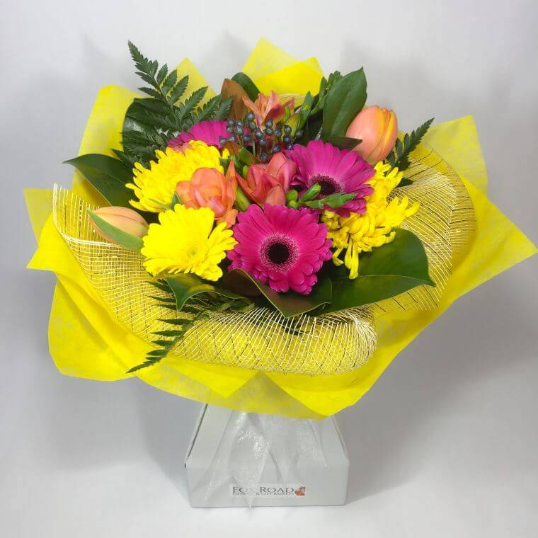 Bright funeral flowers