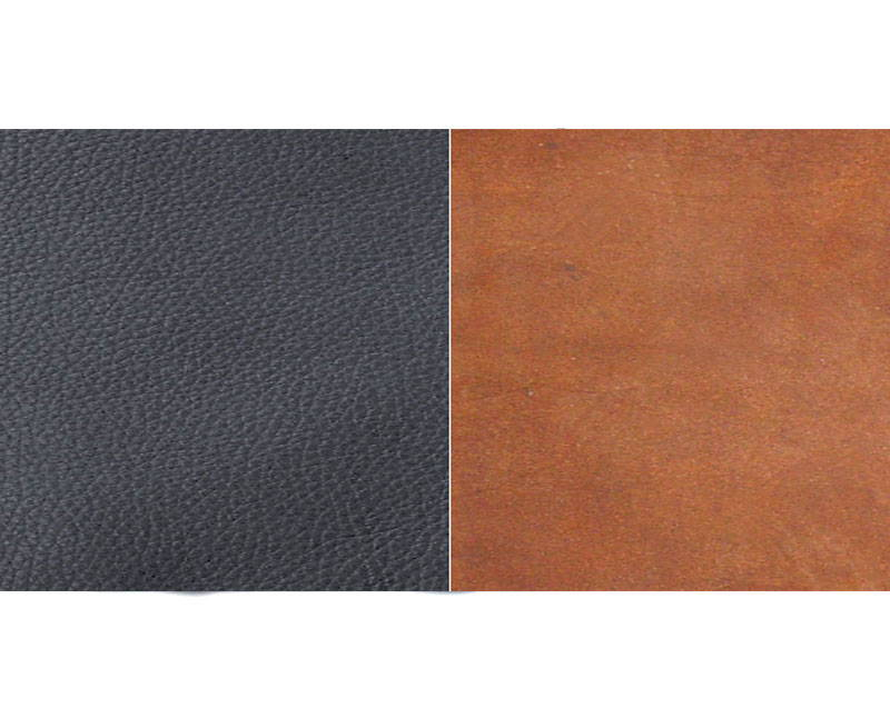 swatches of the leather hides