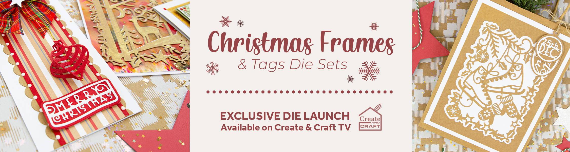 Merry Christmas Frame Tonic Studios Metal Die Christmas Sentiments