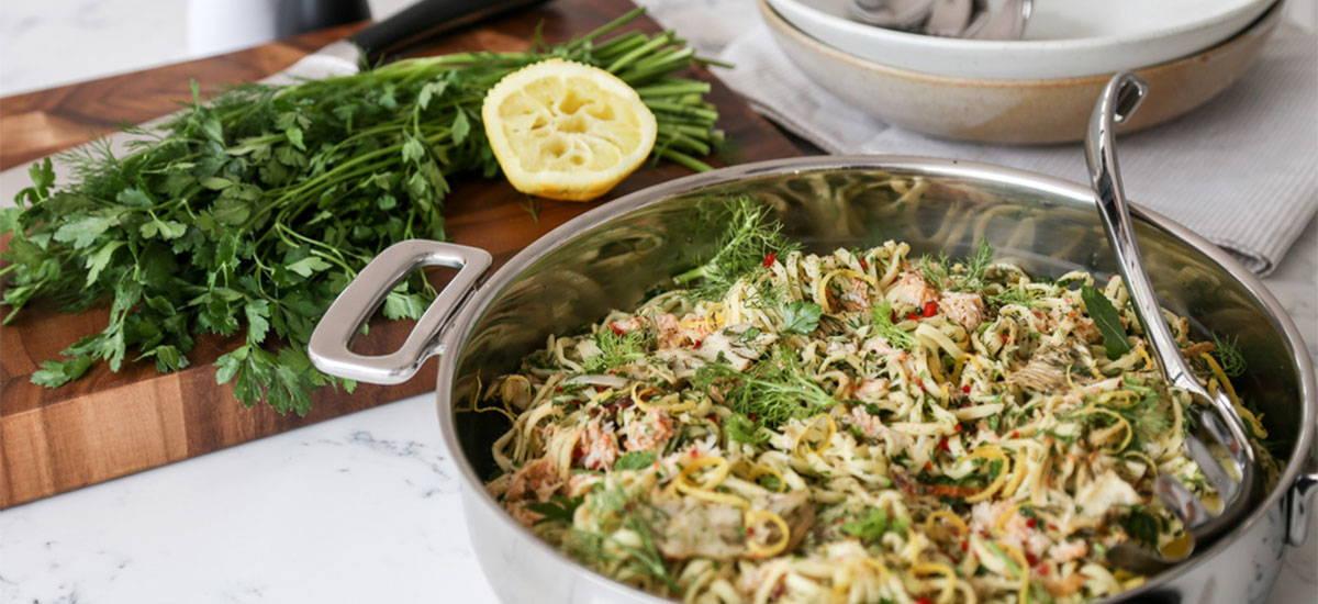 Fennel & Crab Spaghetti
