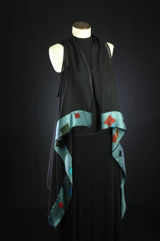hand painted silk vest by Tonya Butcher
