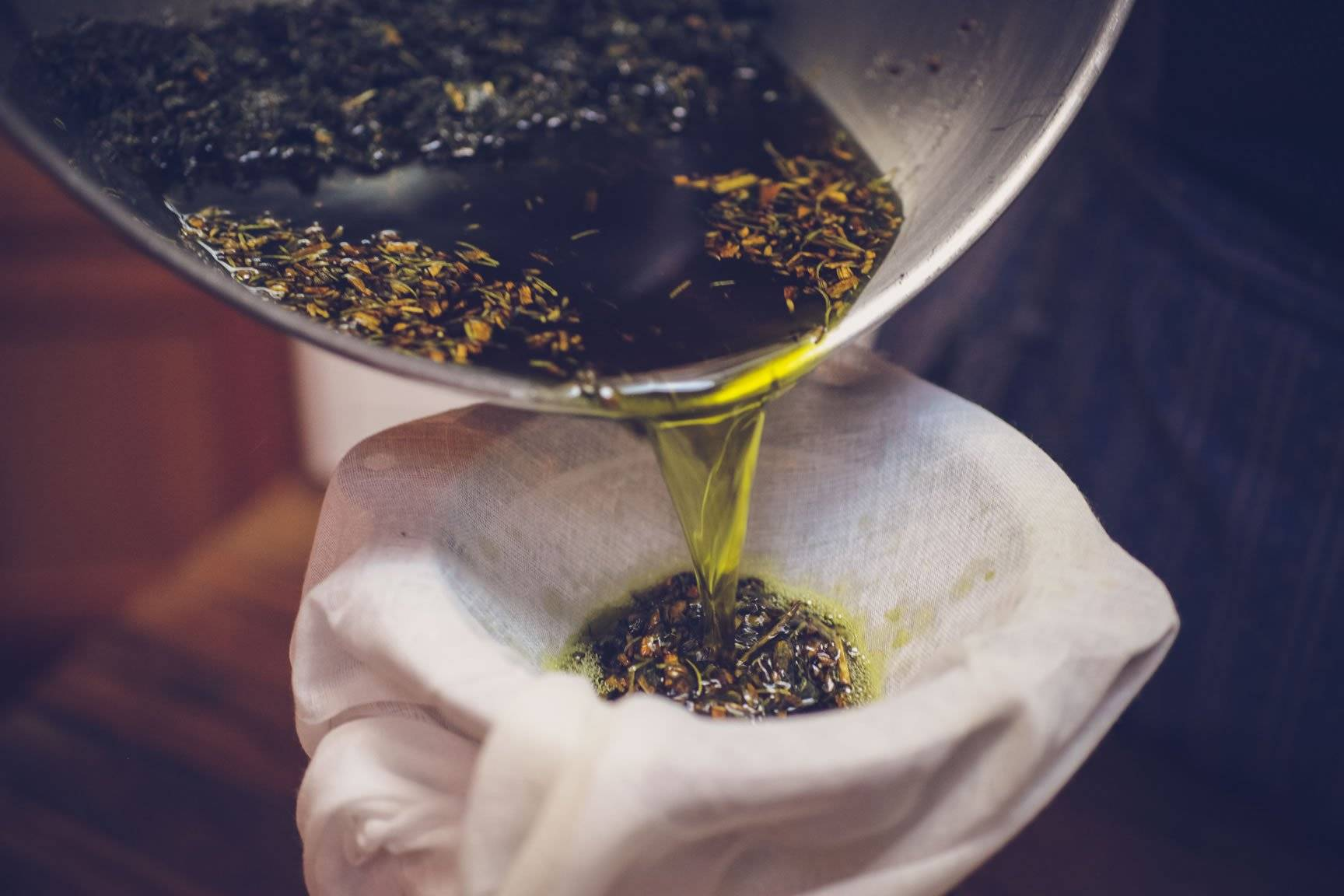 Herb infused butter oil