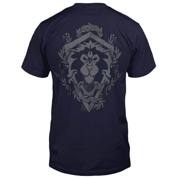 Product photo of a World Of Warcraft Alliance Lion Crest Pocket Tee