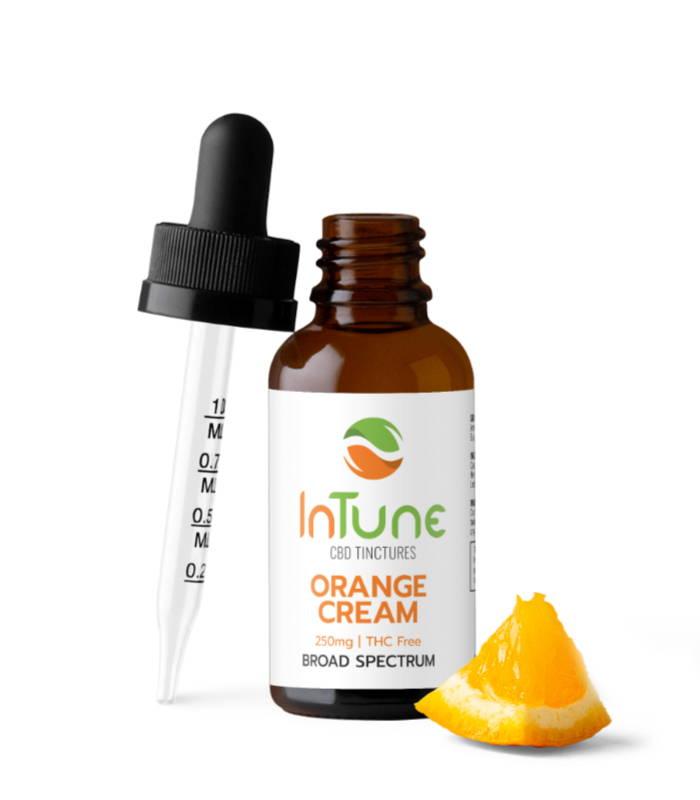 Orange Cream Broad Spectrum CBD Tincture