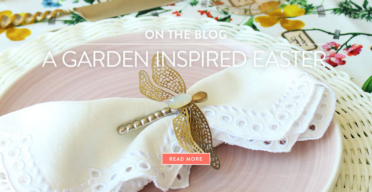 On the blog - A garden inspired Easter