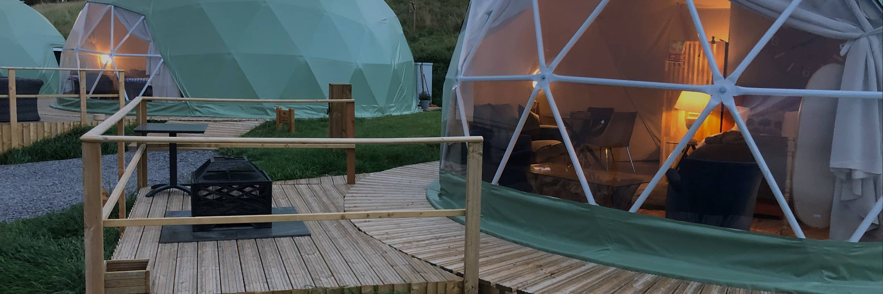 Luxury Dome Tents With Decking