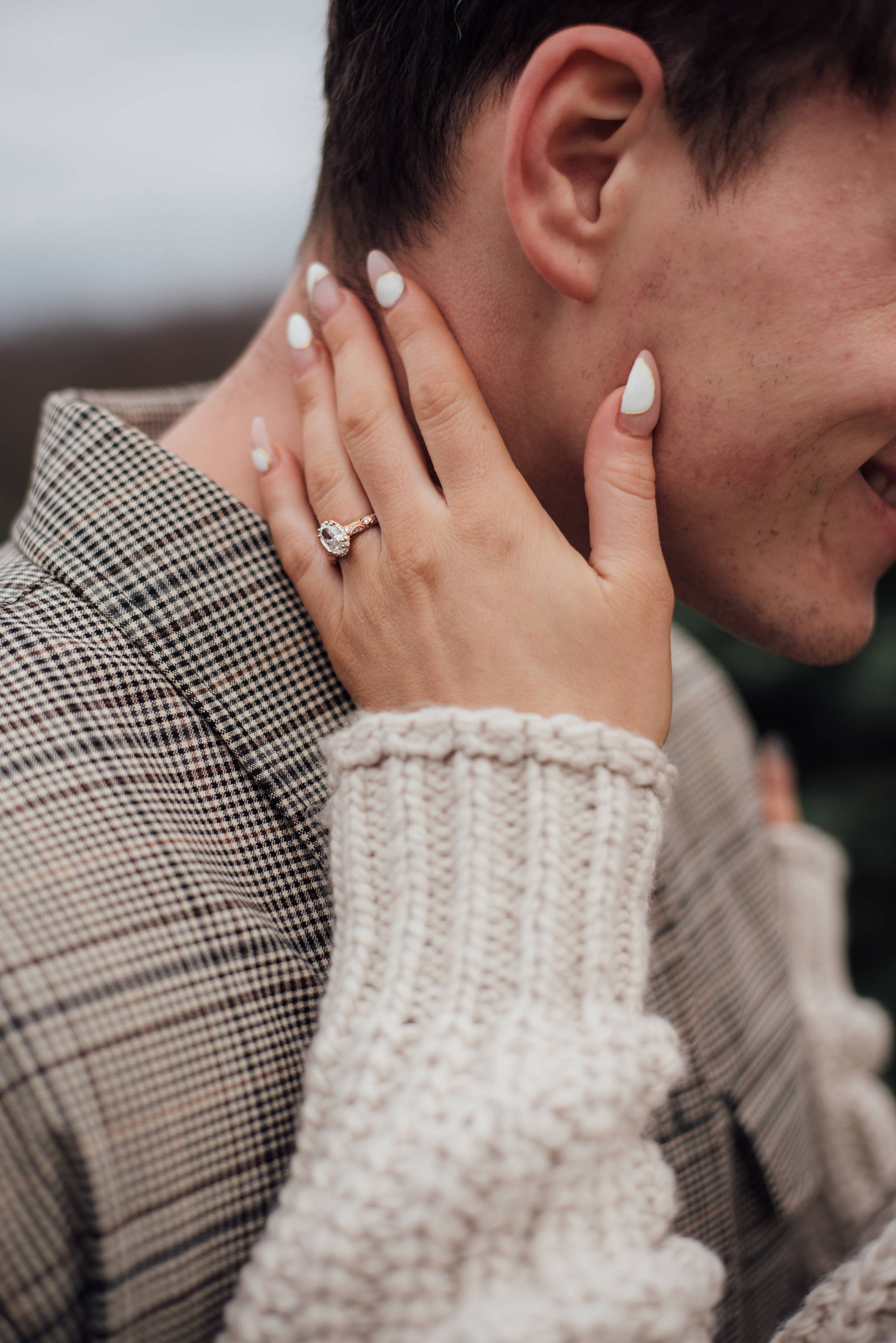 Close Up of Kelsey's Engagement Ring from Henne Jewelers