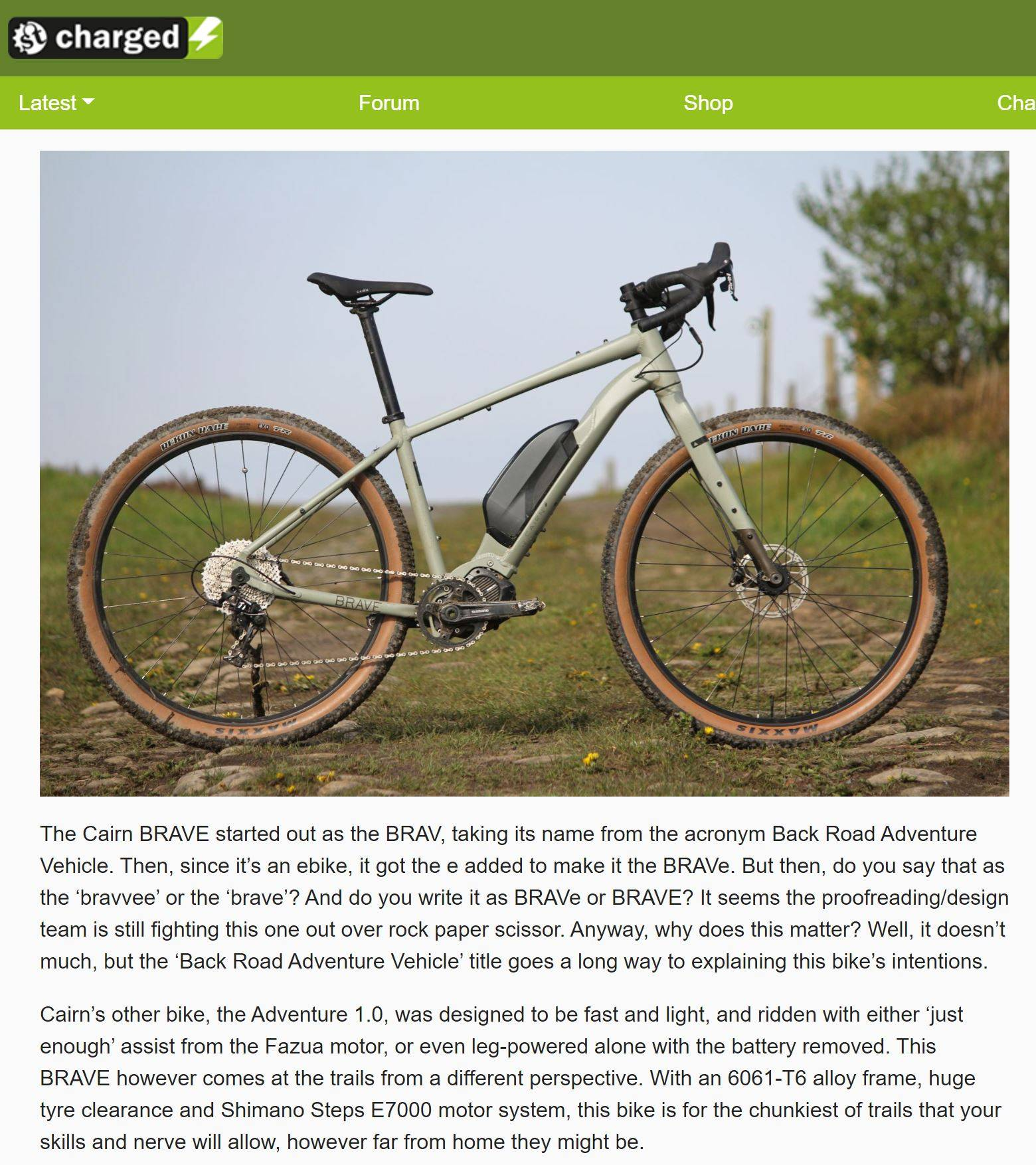 Singletrack First Ride review of Cairn BRAVe