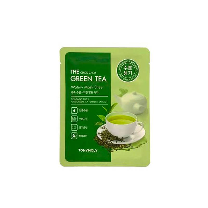 The Chok Chok Green Tea Watery Mask Sheet 20g x 2