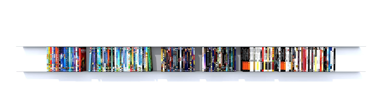 etagere DVD en acier inoxydable