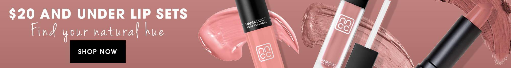 Nanacoco Professional$20 and under lip gloss, lipstick, lip creme, and lip crayon sets