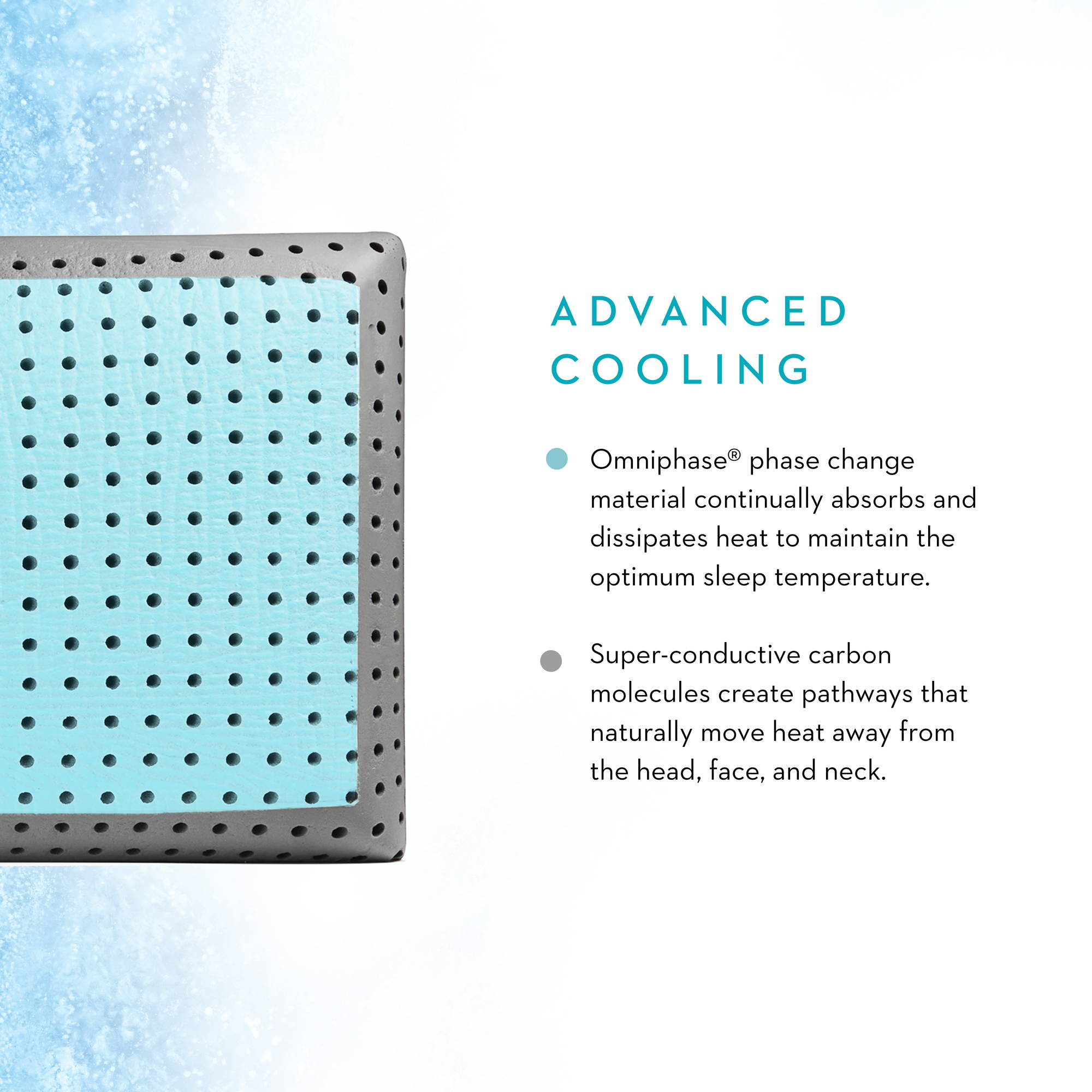 advanced cooling pillow technology