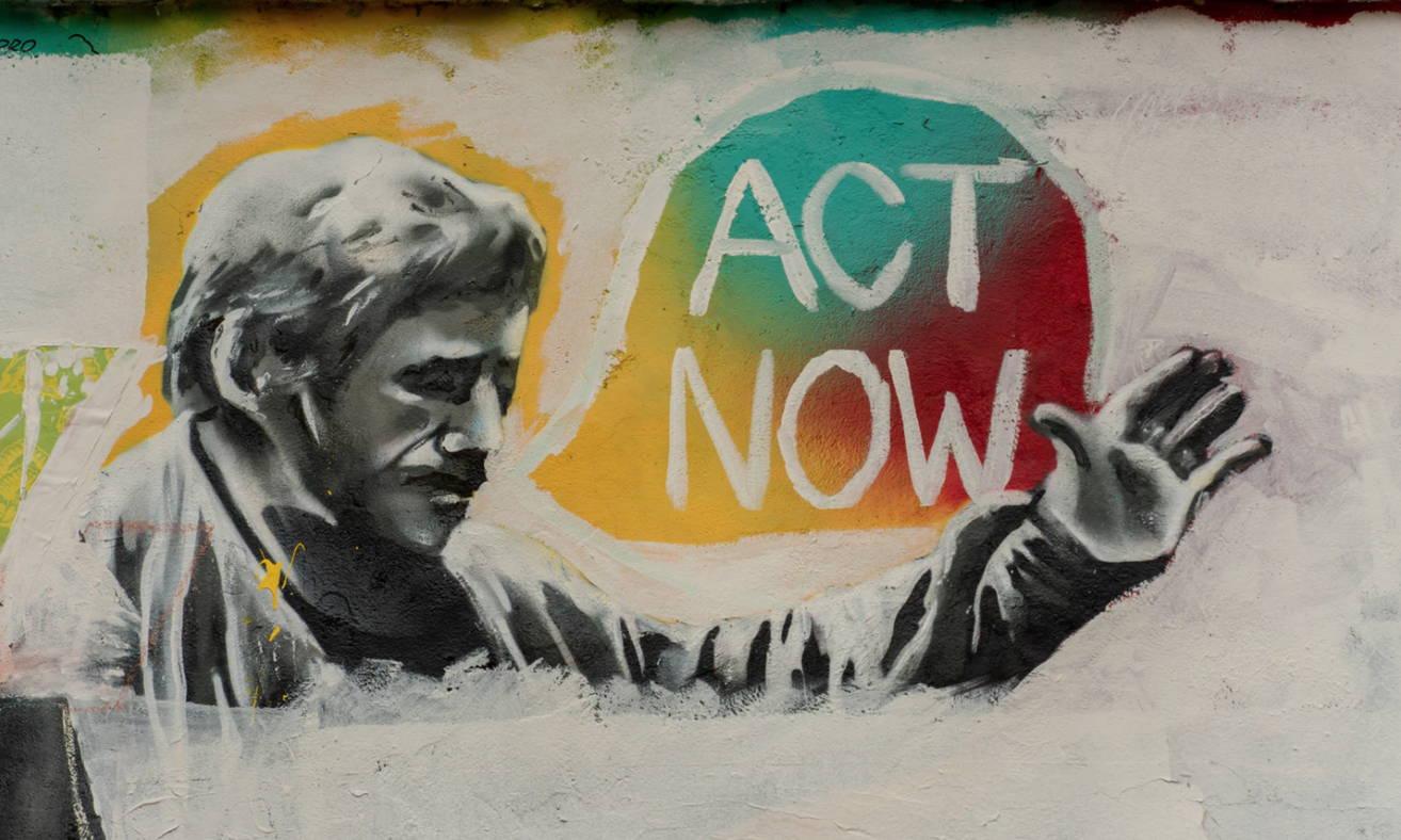 Act Now street art coronavirus