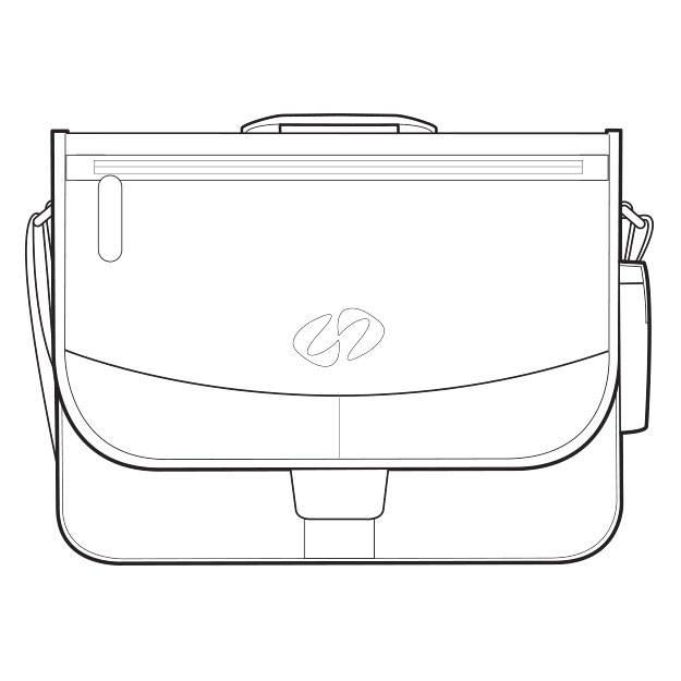 Drawing of the MacCase distressed vintage leather shoulder bag