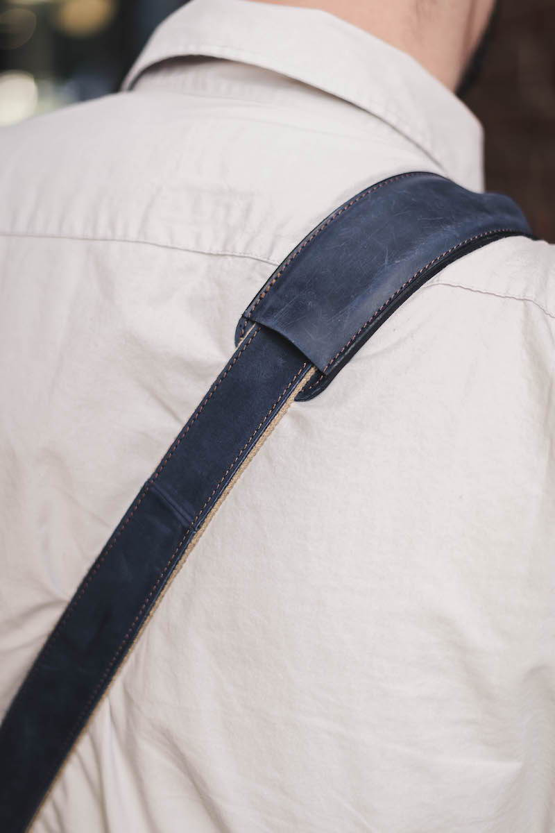 olpr. messenger bag in waxed canvas and leather