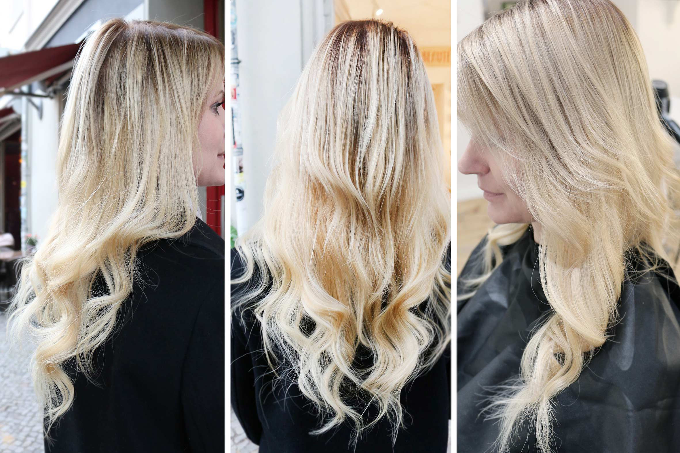 tape in extensions aus virgin echthaar in blondem haar