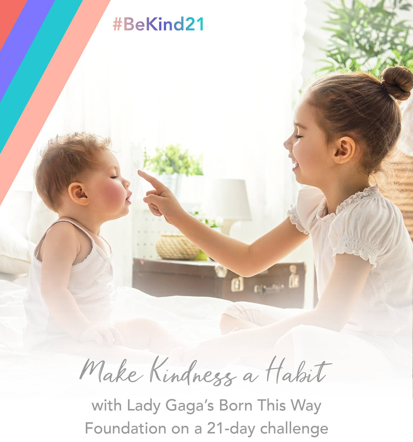 make kindness a habit with lady gaga's born this way foundation on a 21-day challenge