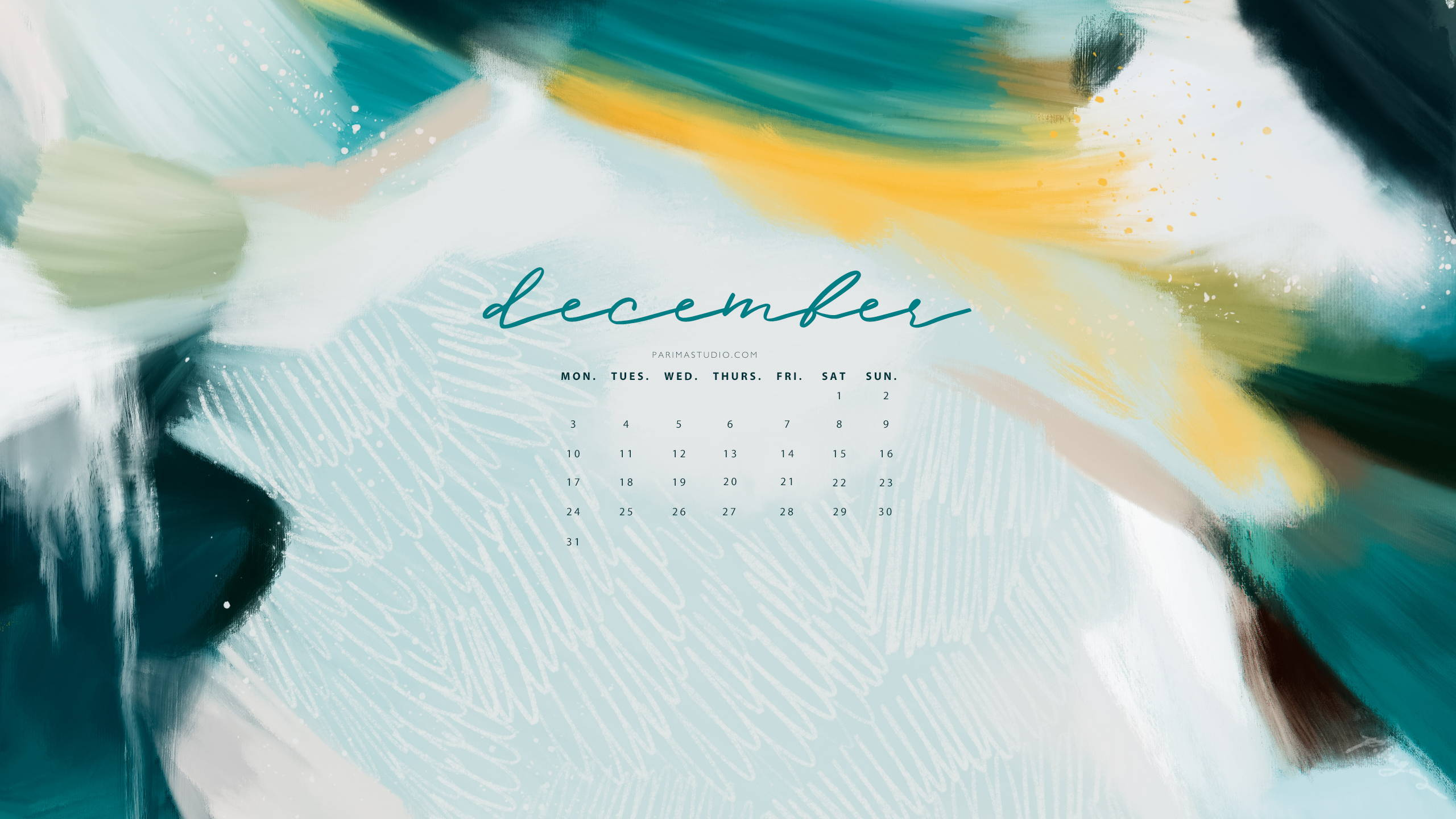 Free desktop calendar download by Parima Studio