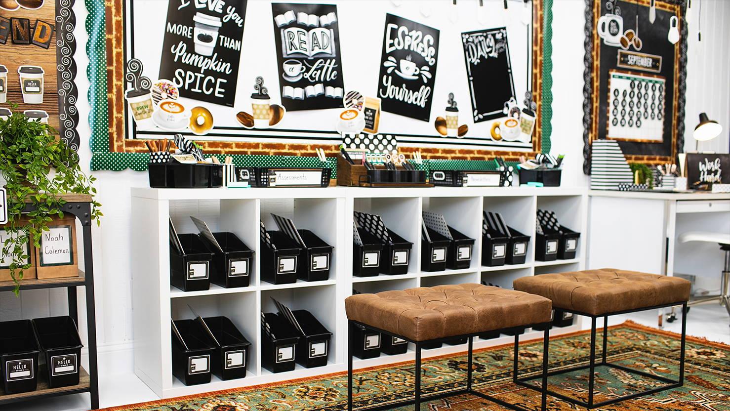 Industrial Café Themed Classroom