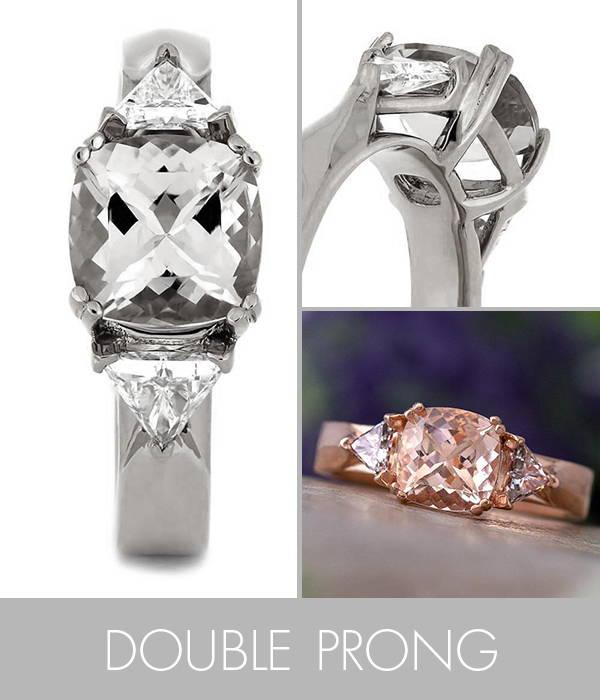 Cushion Cut Morganite Engagement Ring