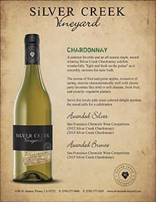 Silver Creek Chardonnay Sell Sheet