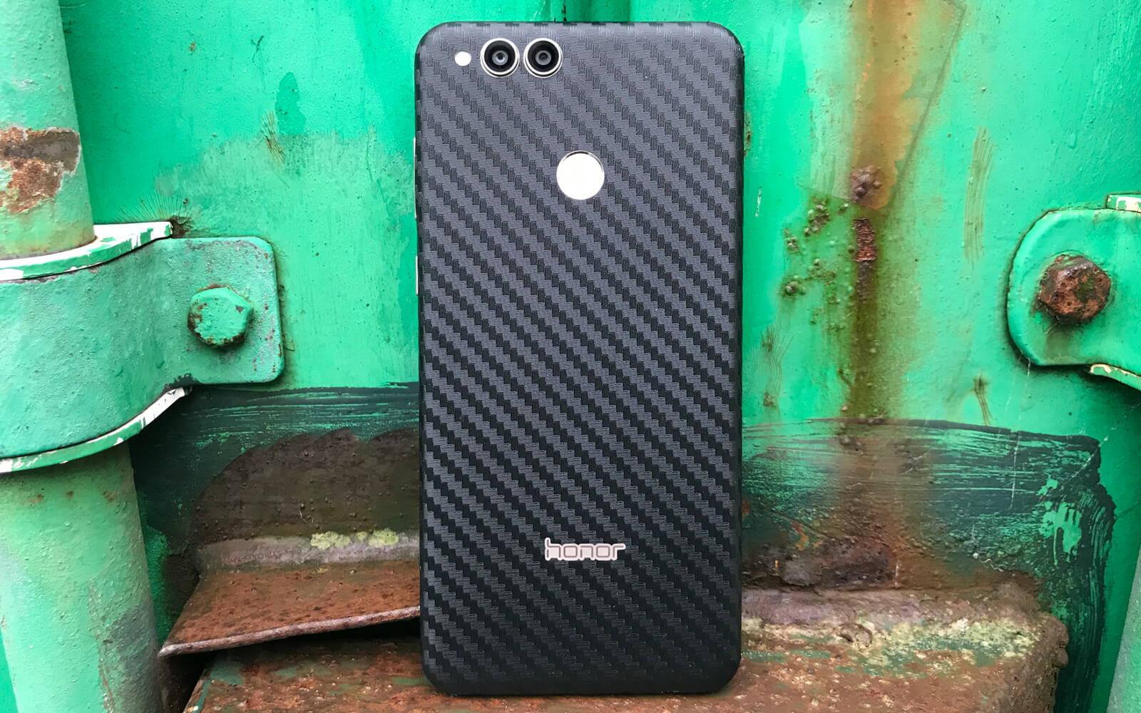 Honor 7X Black Carbon Fibre Skins