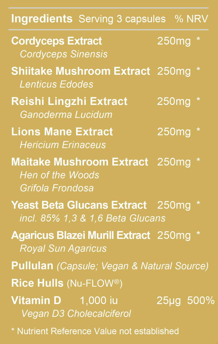 Immune Pro 3 Ingredients