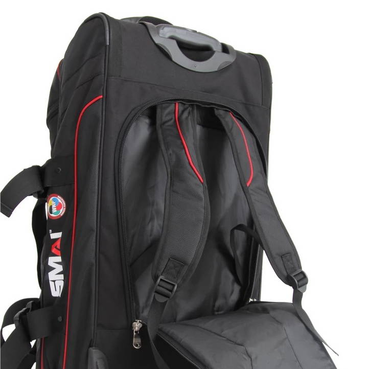 converts to a backpack world karate federation travel bag