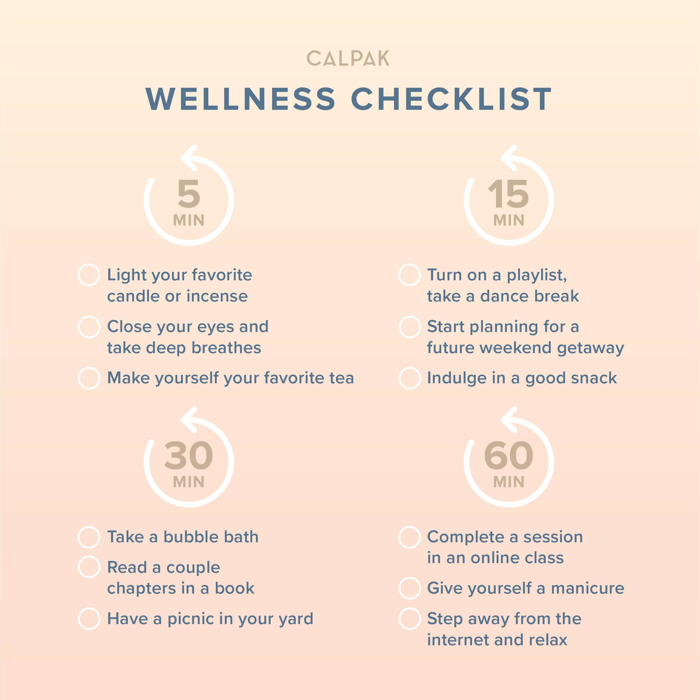 CALPAK's Wellness Checklist.